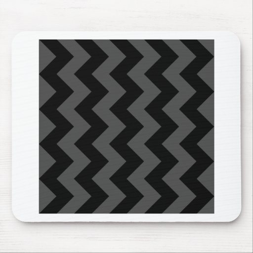 Zigzag I - Black and Gray Mouse Pads
