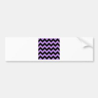 Zigzag I - Black and Lavender Bumper Sticker