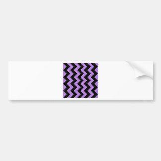 Zigzag I - Black and Lavender Bumper Stickers