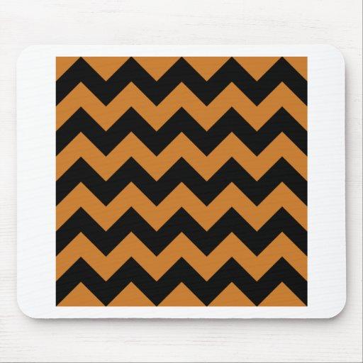 Zigzag I - Black and Ochre Mousepads