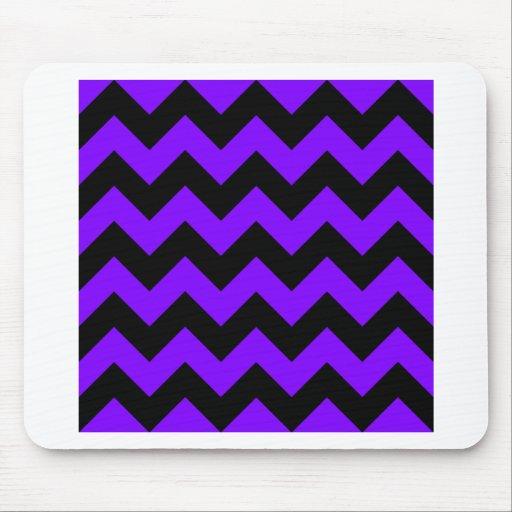 Zigzag I - Black and Violet Mousepads