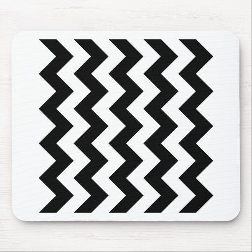 Zigzag I - Black and White Mousepad