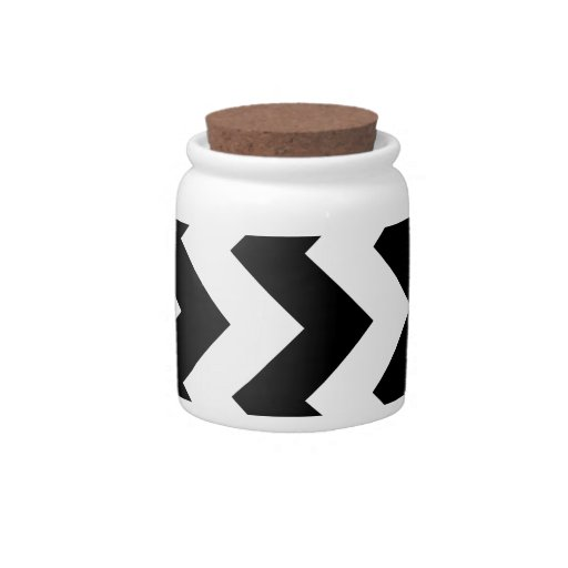 Zigzag I - Black and White Candy Dishes