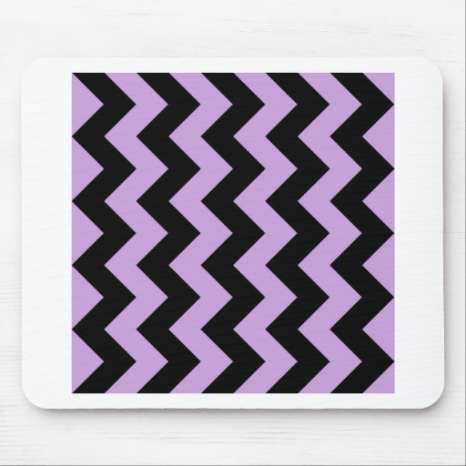 Zigzag I - Black and Wisteria Mousepad