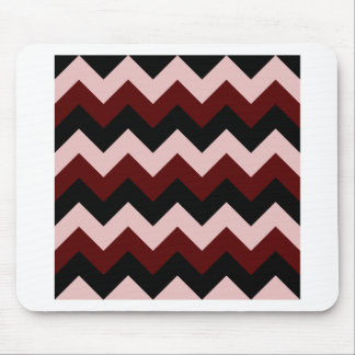 Zigzag I - Black, Dark Red and Pink Mouse Pads