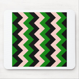 Zigzag I - Black, Pink and Green Mouse Pad