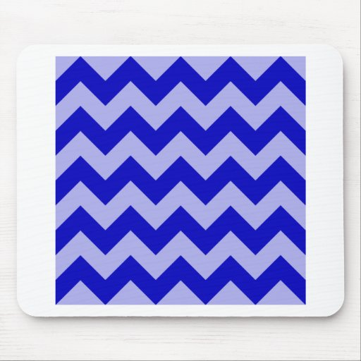 Zigzag I - Blue and Violet Mousepads