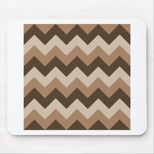 Zigzag I - Brown 1 Mousepads