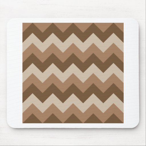 Zigzag I - Brown 2 Mouse Pads