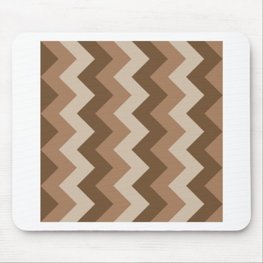 Zigzag I - Brown 2 Mousepad