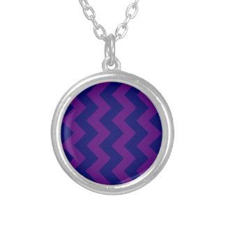 Zigzag I - Dark Blue and Dark Violet Custom Necklace