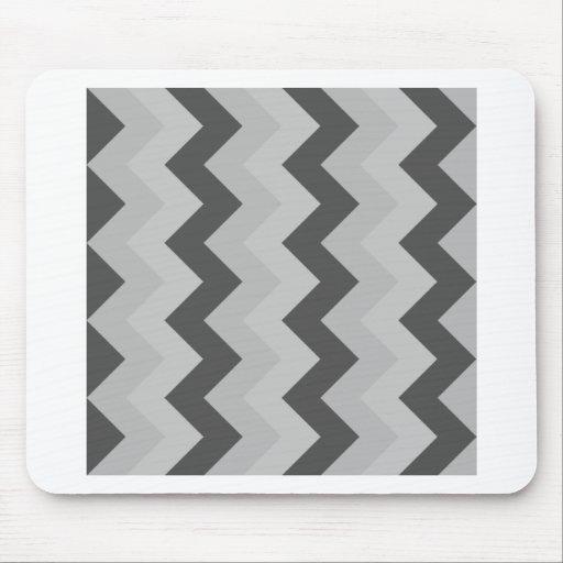 Zigzag I - Gray 2 Mouse Pad