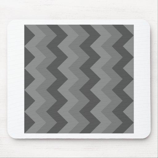 Zigzag I - Gray 4 Mouse Pad