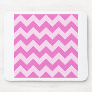 Zigzag I - Light Pink and Dark Pink Mouse Pad