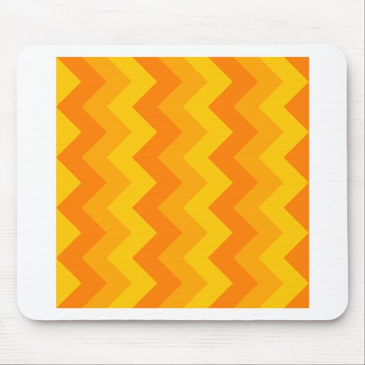Zigzag I - Orange 2 Mousepad