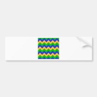 Zigzag I - Orange, Blue, Green Bumper Sticker