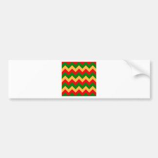 Zigzag I - Orange, Green, Red Bumper Sticker