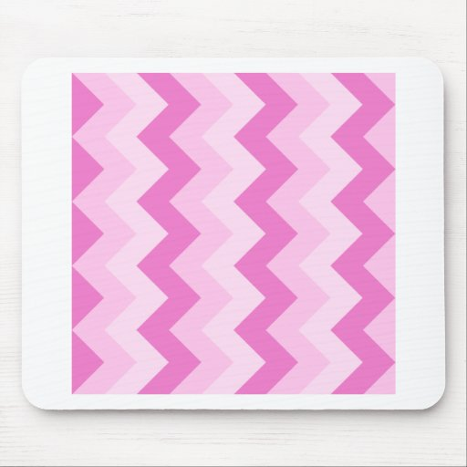 Zigzag I - Pink1 Mouse Pads