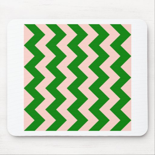 Zigzag I - Pink and Green Mouse Pad