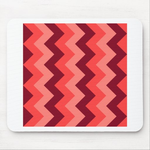 Zigzag I - Red 1 Mousepad