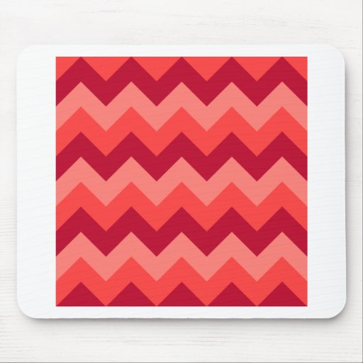Zigzag I - Red 2 Mouse Pad