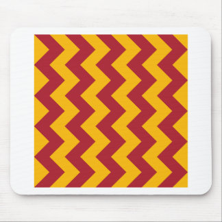 Zigzag I - Red and Orange Mouse Pad