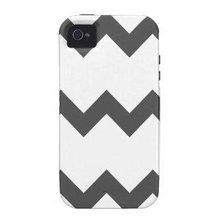 Zigzag I Single - Gray on White iPhone 4/4S Case