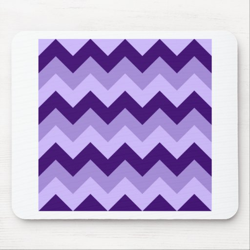 Zigzag I - Violet 1 Mousepad