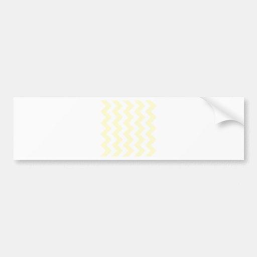 Zigzag I - White and Cream Bumper Stickers