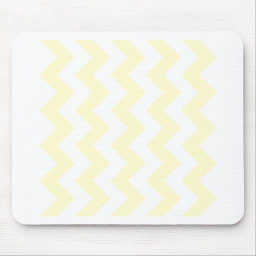 Zigzag I - White and Cream Mousepad