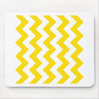Zigzag I - White and Golden Yellow Mousepad