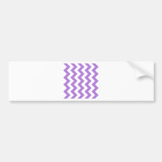 Zigzag I - White and Lavender Bumper Stickers