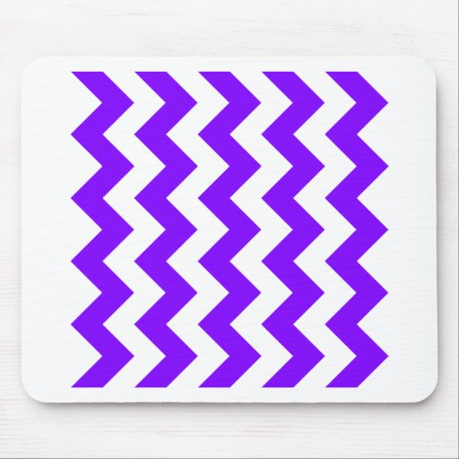 Zigzag I - White and Violet Mousepads
