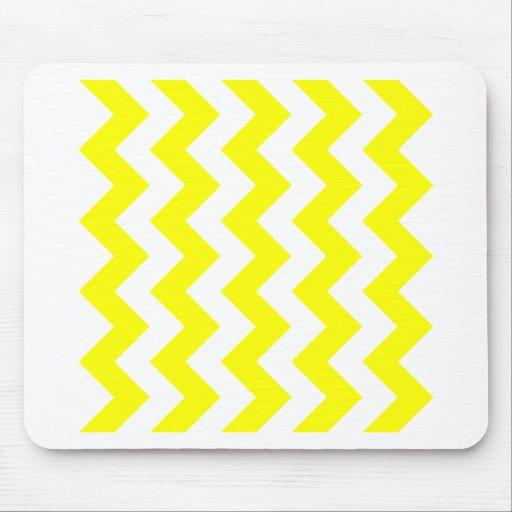 Zigzag I - White and Yellow Mousepad