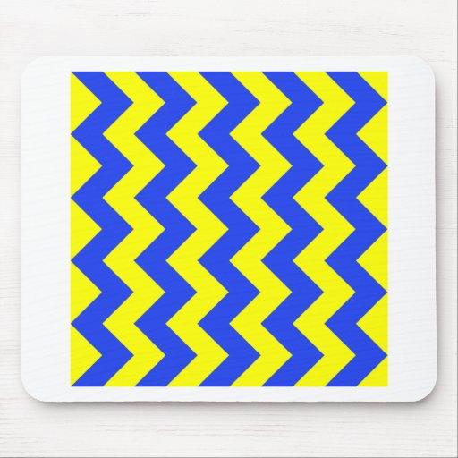 Zigzag I - Yellow and Blue Mousepad