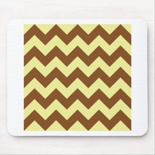 Zigzag I - Yellow and Brown Mousepad