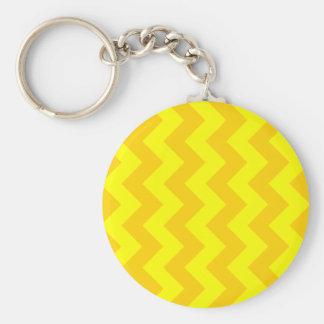 Zigzag I - Yellow and Dark Yellow Key Chain