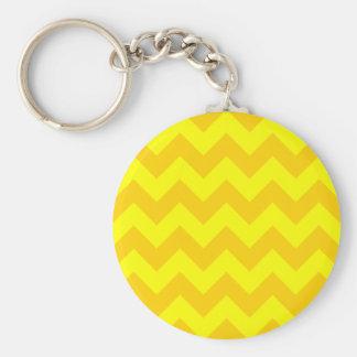 Zigzag I - Yellow and Dark Yellow Key Chains