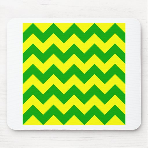 Zigzag I - Yellow and Green Mouse Pad