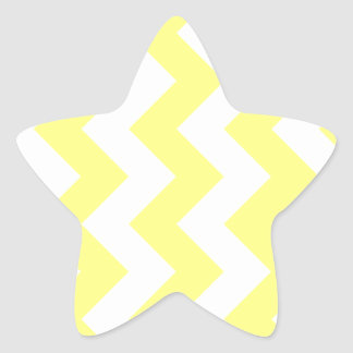Zigzag I - Yellow and Light Yellow Star Stickers
