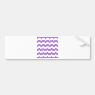 Zigzag II - White and Lavender Bumper Sticker