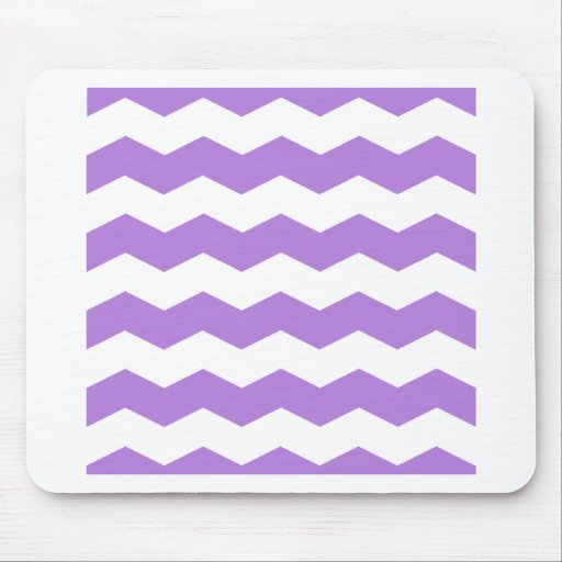 Zigzag II - White and Lavender Mouse Pads