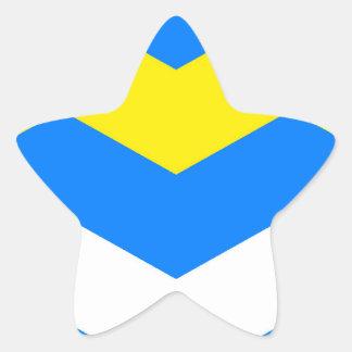 ZIGZAG in Blue & Yellow ~ Star Sticker