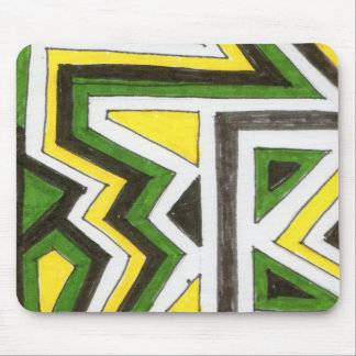 zigzag Jamaica Mouse Pad