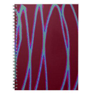 Zigzag Light Writing Spiral Notebook