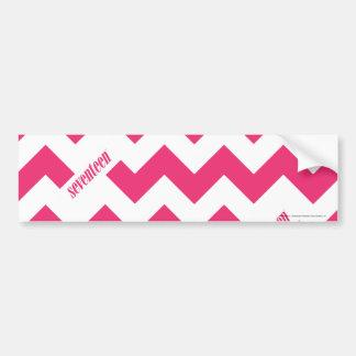 ZigZag Magenta Bumper Sticker