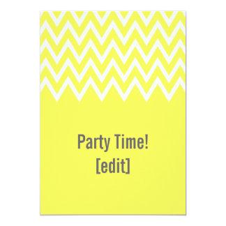 Zigzag On Yellow - Card Invitation