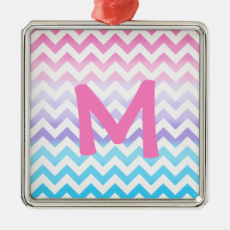 Zigzag Pastel Ombre Christmas Tree Ornaments