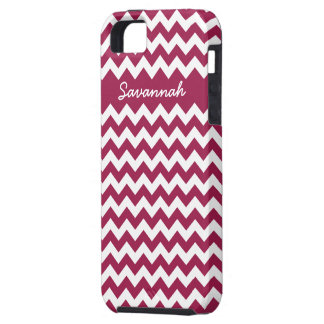 Zigzag Pattern Any Color  Personalized iPhone Tough iPhone 5 Case