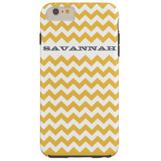Zigzag Pattern Any Color  Personalized iPhone Tough iPhone 6 Plus Case